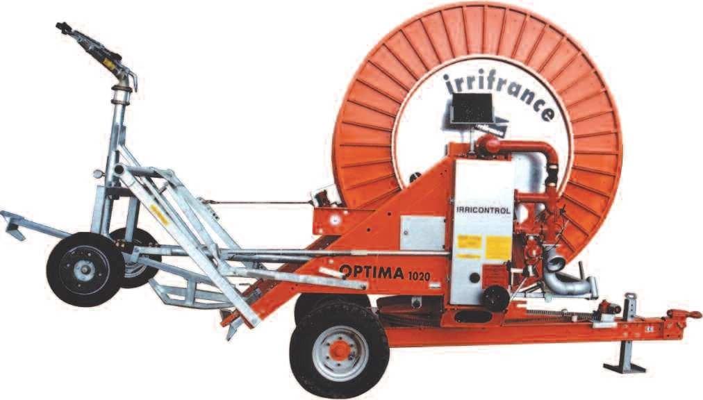 Тръбно-ролкова поливна машина IRRIFRANCE OPTIMA 1020 - 100/410